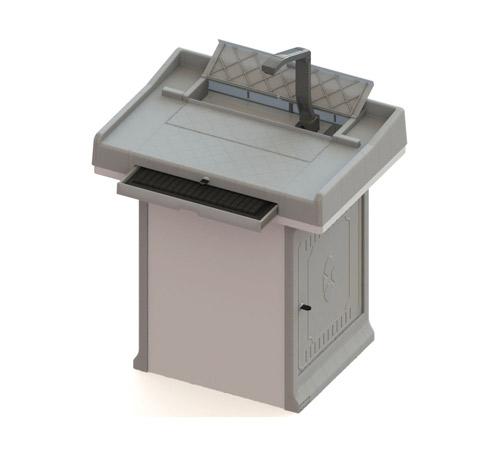 钢塑讲桌F860K